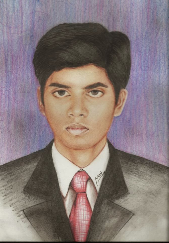 One of my student draw my pic -Thanks mani