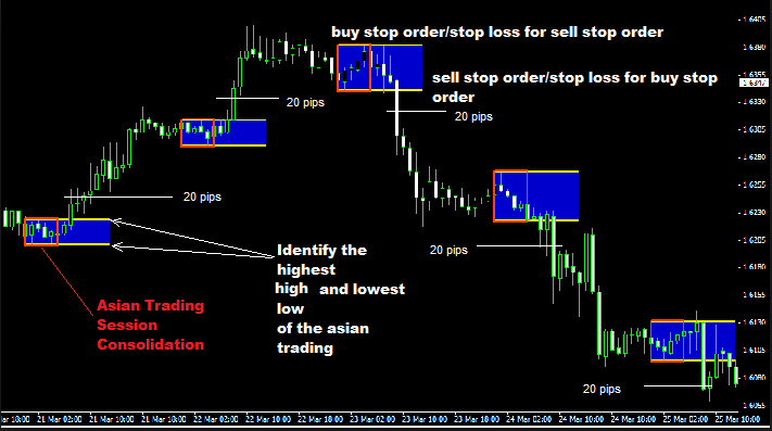 20 Pips Asian Session Breakout Forex Trading Strategy
